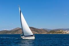 Sailing yachts boat. Sport Royalty Free Stock Image