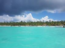 Sailing yachts floating near the coast, sunny day, travel royalty free stock image