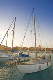 Sailing yachts in a marina Royalty Free Stock Photo