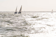 Sailing yachts in the  ocean Stock Image