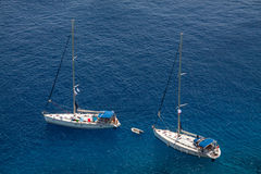 Sailing yachts at open sea Royalty Free Stock Photo