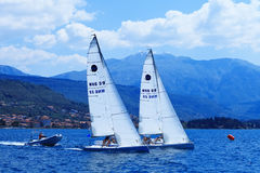 The sailing yachts Stock Images