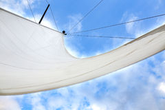 Sailing, yachts or parts of the vessels. Mediterranean Sea. Royalty Free Stock Photos