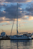 Sailing, yachts or parts of the vessels. Mediterranean Sea. Royalty Free Stock Image