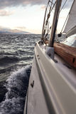 Sailing, yachts or parts of the vessels. Mediterranean Sea. Stock Photo