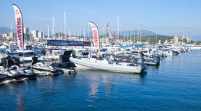 Sailing yachts and pleasure motor boats, Ajaccio Royalty Free Stock Image