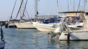 Sailing yachts in the port Royalty Free Stock Photography