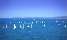 Sailing yachts race Stock Photography