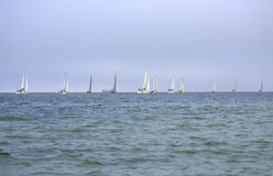 Sailing yachts race Royalty Free Stock Photography