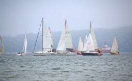 Sailing yachts regatta Royalty Free Stock Images