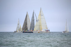 Sailing yachts regatta Stock Photos
