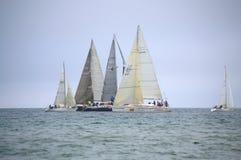 Sailing yachts regatta Stock Photos