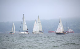 Sailing yachts regatta Stock Photo