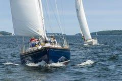 Sailing yachts Stockholm archipelago Royalty Free Stock Photography