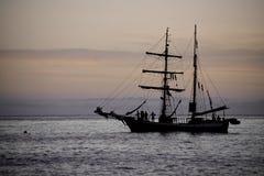 Sailing yaht in open sea Stock Photo