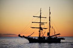 Sailing yaht in open sea Royalty Free Stock Photos