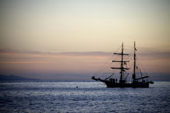 Sailing yaht in open sea Stock Photography