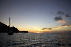 Sailing yaht in open sea Stock Image