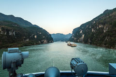 Sailing on the yangtze river Royalty Free Stock Photo