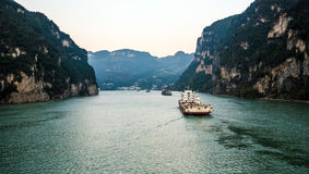 Sailing on the yangtze river Stock Image