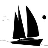 Sailing yatch illustration royalty free stock image