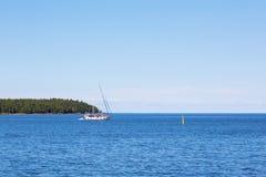Sailingboat at sea Royalty Free Stock Images