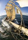 Sailingship Ansicht vom Bugspriet Stockfotografie