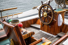 Sailingship helm Royalty Free Stock Photo