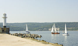 Sailint regatta, Varna Stock Photo