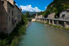 Saillans im Drome in Frankreich stockfoto