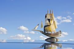 sailling αναμνηστικό καθρεφτών β&alpha Στοκ Φωτογραφίες