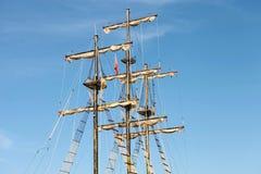Sailling. Pirate ship sailing at sea in Manavgat Royalty Free Stock Images
