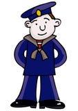 Sailor. Merchant sailor in blue uniform Stock Image