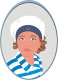 Sailor. Child portrait with blue eyes Royalty Free Stock Images