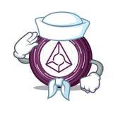 Sailor Augur coin character cartoon. Vector illustration Royalty Free Stock Photos