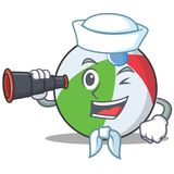 Sailor ball character cartoon style Stock Photography