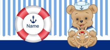 Sailor Bear Digital Clipart Vector stock images