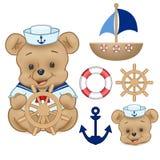 Sailor Bear Digital Clipart Vector royalty free stock images