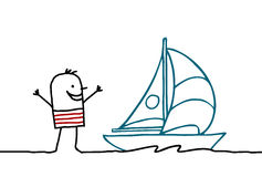 Sailor & boat Royalty Free Stock Images