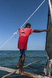 Sailor on the boat in Zanzibar Stock Images