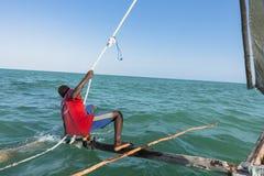Sailor on the boat in Zanzibar Stock Image