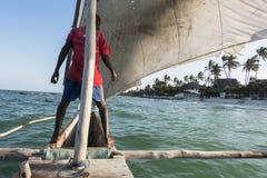 Sailor on the boat in Zanzibar Stock Photography