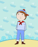 Sailor boy royalty free illustration