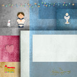 Holy communion invitations,sailor boy,and frame for photo or text Stock Photo