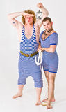 Sailor boys in costume Royalty Free Stock Images