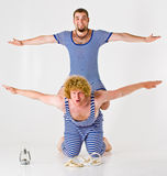 Sailor Boys in Costume. Two young sailor boys or men in theater costumes royalty free stock photo