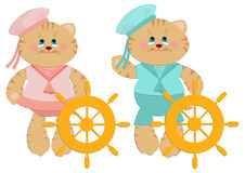 Sailor cats toys Royalty Free Stock Photos