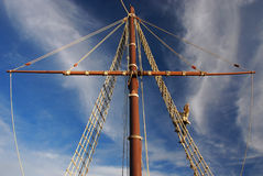 Sailor, Christopher Columbus - Ship detail. Stock Images