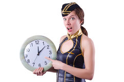 Sailor with clock Royalty Free Stock Photo