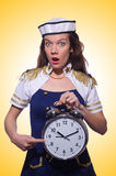 Sailor with clock  Stock Photos